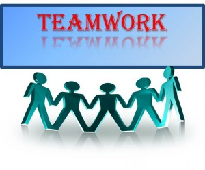 teamwork with graphic