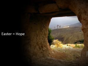 empty tomb easter = hope