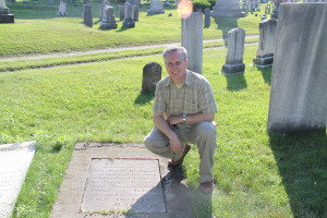 Don Detrick at David Brainerd Grave