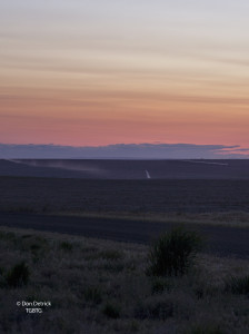 Sunset rolling farm fields Portrait along Hwy 90 near Ritzville WA 4-29-15